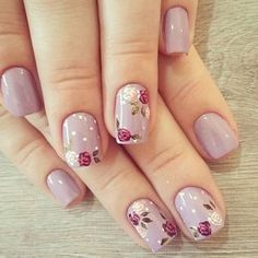 Decent looking flower nail art designs unhas decoradas diferentes, unhas elegantes, unhas pintadas, Nail Art Designs, Classy Nail Designs, Flower Nail Designs, Nail Designs Spring, Nails Design, Cute Acrylic Nails, Gel Nail Art, Cute Nails, Acrylic Gel