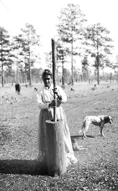 Choctaw Indians: Woman Pounding Corn in Wooden Mortar. Is it Oklahoma or Mississippi? According to ushistoryimages.com, this image comes from the Smithsonian's collection. I will post more when I dig a little deeper.