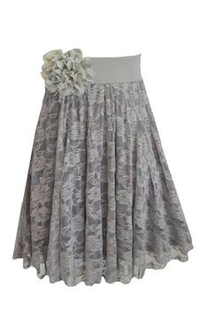 Gray lace skirt