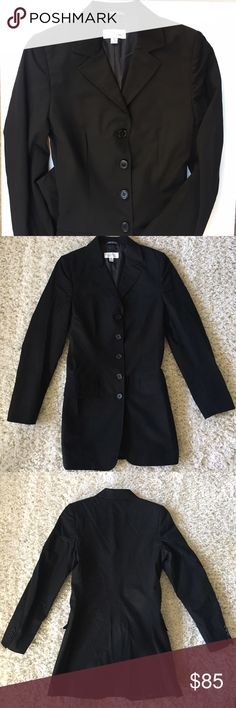 Barneys New York 5 button black blazer Barneys New York 5 button black blazer. In perfect condition, no flaws. Perfect for work or any professional event. Barneys New York Jackets & Coats