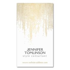 Elegant Faux Gold Confetti Dots on White Double-Sided Standard Business Cards (Pack Of 100). Make your own business card with this great design. All you need is to add your info to this template. Click the image to try it out!