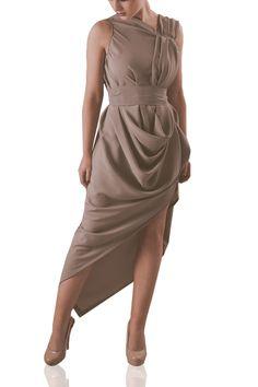 Grey Chiffon Maxi Side Split Ruffle Handmade Dress Perfect for Parties or Occasions http://www.darcyanddolly.com/blonde-wise-grey-chiffon-mollie-dress/