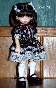 Poupées et travaux coutures  de Lolotte: Mini robe pour mini puce