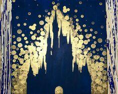 Disney World Castle inspired painting//Disney//Disney Castle//Disneyland