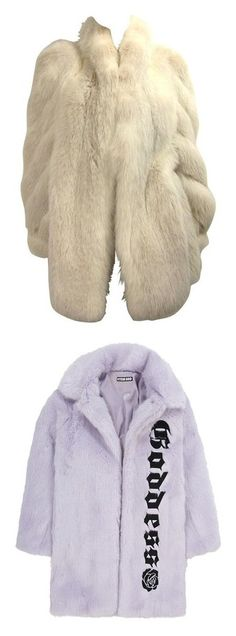 """""""Coat"""" by fashunkillaa ❤ liked on Polyvore featuring outerwear, jackets, coats, fur, tops, white, coats & jackets, imitation fur coats, faux fur trench coat and lilac coat"""