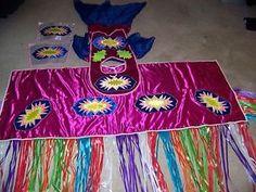 Details about Native American POW WOW Regalia Fancy Shawl Ensemble