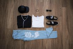 My OOTD. Pretty warm here today in #SoCal, so today imma be rockin a baseball Jersey over a white longline Tee. Black snapBack, sneakers, bracelet & glasses. With some light blue ripped denim jeans by @RusticDime to give my legs a little breeze.  Be sure to check out #RusticDime for a dope line of #streetwear that's great for this Holiday season! #dredrexler #mensfashion #menshair #menhairstyle #fashion #white #platinumhair #platinum #style #jeans #mensjeans #rippedjeans #mensstreetwear #m