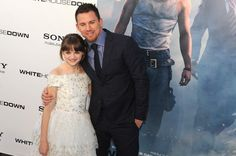 "Joey King, (L) and Channing Tatum, (R) attend ""White House Down"" Washington DC Premiere at AMC Georgetown on June 21, 2013 in Washington, DC."