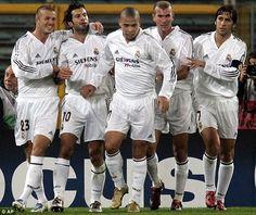 Galacticos Part I: David Beckham, Luis Figo, Ronaldo, Zinedine Zidane and Raul in 2004...
