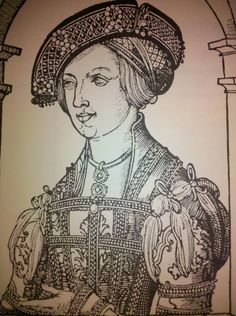 Single Leaf Woodcut V. IV; Erhard Schoen; 1519; Anne of Bohemia and Hungary, Later wife of Archduke Ferdinand of Austria