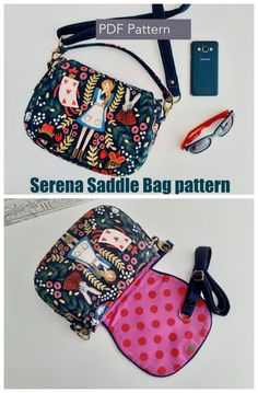 Serena Saddle Bag sewing pattern. A classic bag everyone needs in their wardrobe. A versatile DIY crossbody bag pattern which works well with a combination of different fabrics. We love the optional clip-on carrying handle to turn this into a snazzy handbag to sew. #SewModernBags #SewABag #BagSewingPattern #SewAPurse #PurseSewingPattern Handbag Patterns, Bag Patterns To Sew, Sewing Patterns, How To Make Purses, Making Purses, Bag Making, Diy Bags Purses, Purses And Handbags, Diy Crochet Bag