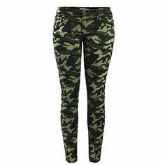 b82074a65dc Women s S-XXXXXL Plus Size Chic Camo Army Green Skinny Jeans For Women.
