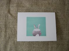Cottontail Cards by ClareHooksArt on Etsy, $12.00