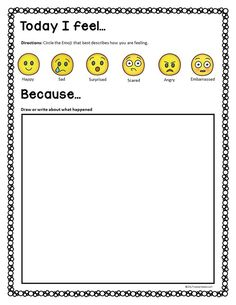 Help children express their feelings with this therapeutic guided journal.  Kids will have fun with this creative exercise.  Great for art therapy!