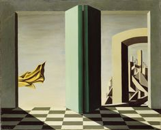 """Kay Sage. """"The Upper Side of the Sky"""" 1944EL SURREALISMO Y EL SUEÑO en el Museo Thyssen-Bornemisza.   METALOCUS"""