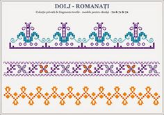 Semne Cusute: Calul si Calaretul - Cavalerul Trac - Oltenia, ROMANIA Beading Patterns, Knitting Patterns, Folk Embroidery, Folk Fashion, Stitch Design, Pixel Art, Cross Stitch Patterns, Alphabet, Projects To Try