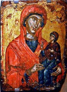 Saint Anna with the Virgin Mary as a little girl , αι. , from The Museum of Byzantine Culture, Thessaloniki, Greece Byzantine Icons, Byzantine Art, Greek Icons, Paint Icon, Russian Icons, Biblical Art, Orthodox Icons, Sacred Art, Christian Art