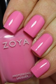 Pink nail polish colors really look great and lovely on nails. This is a color that many of the girls love to have in their nail polish set. Here are the top 10 picked up for you. Color Magenta, Pink Nail Colors, Cute Pink Nails, Love Nails, How To Do Nails, My Nails, Zoya Nail Polish, Nail Polishes, Pink Polish