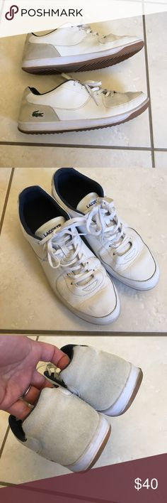 LACOSTE men's shoes Used condition. My husband wore these only a few times but has some discoloration from jeans. Lacoste Shoes Sneakers