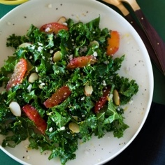 This simple Blood Orange and Kale salad is great for lunch on the go, or a delicious side dish to a heavy entree.