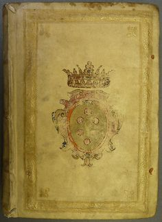 Medici family armorial binding Armorial binding of the Medici family in gold and colors Penn Libraries call number: GrC Ar466 T2 1661