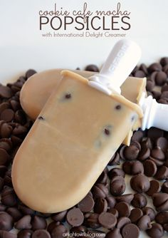 Cookie Cafe Mocha Popsicle Recipe; for popsicle recipes and fun, visit apopsicleblog.com