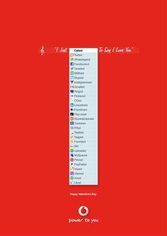 Een fijne Valentijnsdag advertentie van Vodafone. Een brief sturen leek nooit eerder zo gemakkelijk vergeleken met onze sociale media!