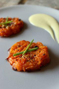 Savory Smashed Sweet Potatoes with Lemon Garlic Aioli | The Fitchen