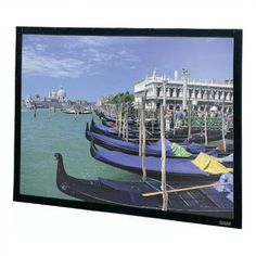 "Da-Lite Perm-Wall Fixed Frame Projection Screen Viewing Area: 45"" H x 80"" W"