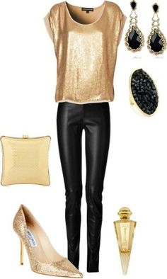 Night out outfit, new years eve outfits, holiday party outfit, christmas pa Legging Outfits, Leather Leggings Outfit, New Years Outfit, New Years Eve Outfits, Night Out Outfit, Nye Outfits, Holiday Outfits, Holiday Party Outfit, Casual Outfits