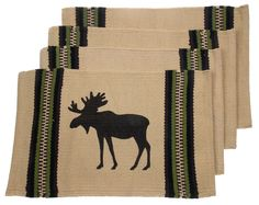 New Today: Moose Silhouette ... Be the first to buy! http://funsationalfinds.com/products/moose-silhouette-placemats-set-4-beige-12-x-18-rustic-lodge-virah-bella?utm_campaign=social_autopilot&utm_source=pin&utm_medium=pin