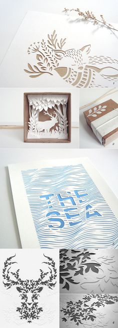 The art of paper cut outs NOTE: only for inspiration Kirigami, 3d Paper, Origami Paper, Paper Cutting, Paper Design, Paper Magic, Book Art, Diy And Crafts, Diy Projects