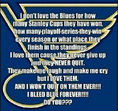 """*should read """"Stanley Cups they have not won""""   Still love 'em!"""