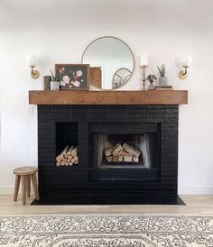 Latest Photographs Fireplace Mantels boho Concepts Fire places are certainly among my favorites components of the home. They earn a great focal point in a differ. Decor, Home Living Room, Interior, Home, Black Fireplace, Interior Design, Fireplace, Home And Living, Living Room Designs