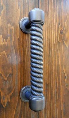 Custom Hotel Entry Pull. Cast Bronze With A Shot Peen Texture.