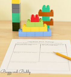 This has been one of our top educational activities for months! The Lego Challenge Math Activity comes with a free printable, too! | AllFreeKidsCrafts.com