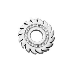 Sawburst - Explodes with Beauty Of Sun and Fierceness Of Blade Stainless Steel Pendant with Cubic Zirconias. #BuyBlueSteel #Jewelry