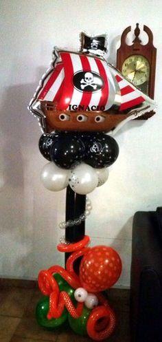 Pirate balloon column