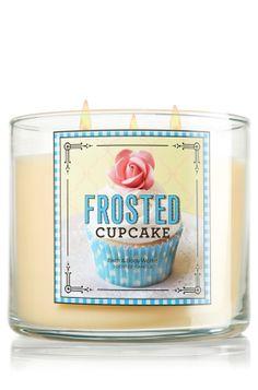 $22.50 Frosted Cupcake 14.5 oz. 3-Wick Candle - Slatkin & Co. - Bath & Body Works