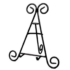 Darice 12 Tall Black Iron Display Stand Holds Cook Books, Plates, Pictures & More! Home & Garden: Table Easel, Cookbook Holder, Art Easel, Plate Display, Display Stands, Picture Holders, Plate Stands, Sweetheart Table, Photo Displays