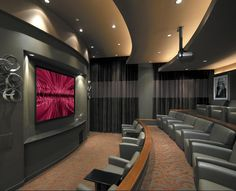 Home theaters are getting to be extremely popular among American homes. This modern technology is slowly giving movie theaters a run for their money. Basic knowledge of home theater system and its basic components may be best for peop Home Theater Basement, Home Cinema Room, At Home Movie Theater, Home Theater Rooms, Home Theater Design, Home Entertainment, Austin Apartment, Home And Deco, Luxury Living
