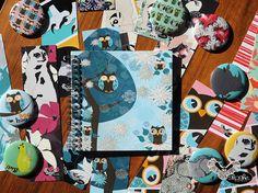 Owl notebook, sketchbook by sloshe