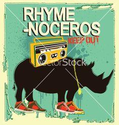 Free Vector | Rhyme-noceros vector 691474 - by CR_macedo on VectorStock®