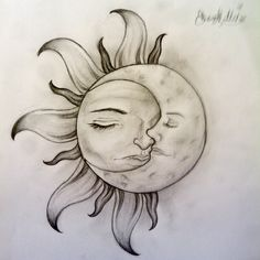Thinking of this as a tatoo...the sun would be timm (with maybe more of a manly face) and Luna would be the moon.
