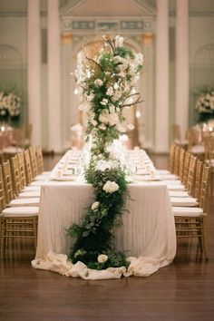 White, greenery and a touch of gold
