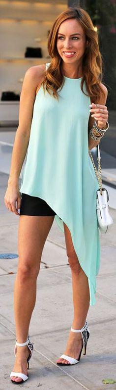 Bcbg Max Azria Mint Sleeveless Asymmetrical Tunic Dress by Sydne Style
