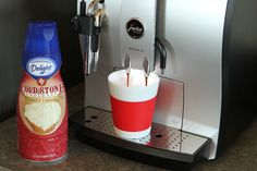 My most favorite coffee creamer!!! International delight-coldstone creamery-sweet cream flavor!! :)