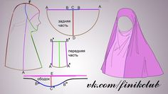 Muslima Hijab with chin coverage.Discover thousands of images about abaya Costume Patterns, Dress Sewing Patterns, Clothing Patterns, Sewing Hacks, Sewing Tutorials, Sewing Projects, Sewing Clothes, Diy Clothes, Jean Diy