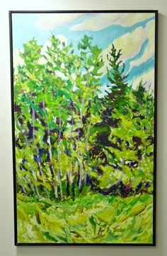 Studying the work of Canadian artist Bert Weir - gorgeous abstract art, inspired by nature.