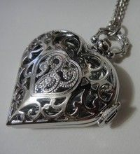 Steampunk Heart Pocket Watch LOVE  Necklace - Antique - Neo Victorian - Gifts
